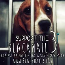 Soutien au BlackMail 3, contre la vivisection et la répression d'état