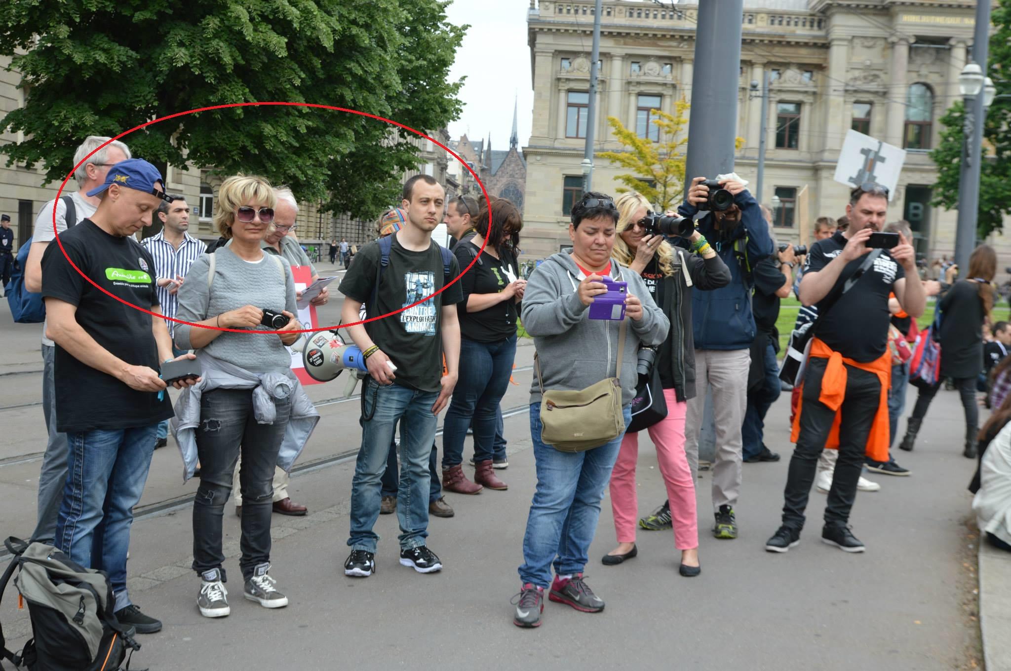 Christophe Leprêtre et Jérémy Lebouter avec Nathalie Krier en mai 2015 à Strasbourg